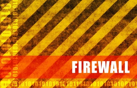 Firewall Security System as an Art Abstract Stock Photo - 4290734