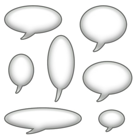 caption: Caption Bubbles Isolated on a White Background