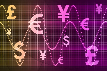 Color World Currencies Business Abstract Background Wallpaper Stock Photo - 4308718