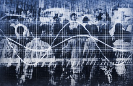 A Population Crowd Data Analysis as Abstract photo