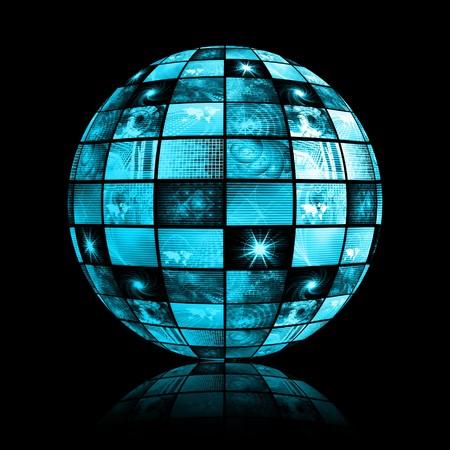 Telecommunications Industry Global Network as Art Stock Photo - 4375238