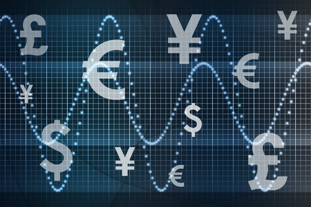 Futuristic World Currencies Business Abstract Background Wallpaper Stock Photo - 4375253