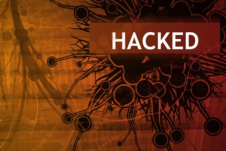 Hacked Security Alert Abstract Background in Red Stock Photo - 4375250