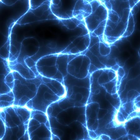 spirale: Ein nahtloser Electric Blue Lightning Storm Art.