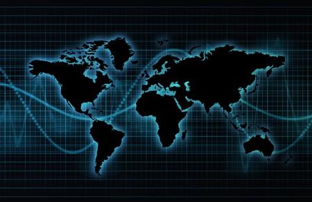 Telecommunications Industry Global Network as Art Stock Photo - 4386182