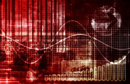slump: Economic Crisis World Abstract Background in Red Stock Photo