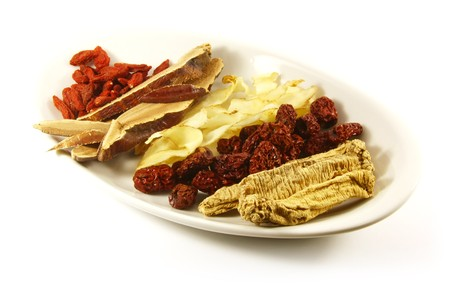 Traditional Chinese Herbs Combination of Spices for Healing Soup photo