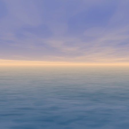 soothing: Sunset Horizon Sea Landscape Scenery in Evening