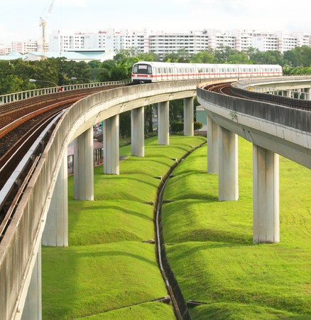 Singapore Mass Rapid Transit MRT Train Travel Stock Photo - 4457751