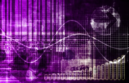 Purple Cyberspace Business System as Art Abstract Stock Photo - 4457977