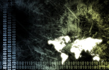Futuristic Technology Data Flow as Art Abstract Stock Photo - 4478120