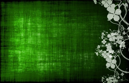 Green Grunge Floral Decor Old Texture Background Stock Photo - 4499857