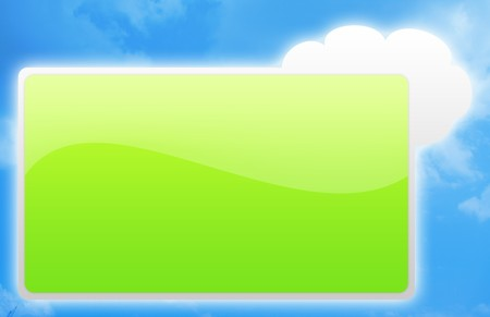 Blank Signboard With Blue Clouds As Background Stock Photo - 4513683