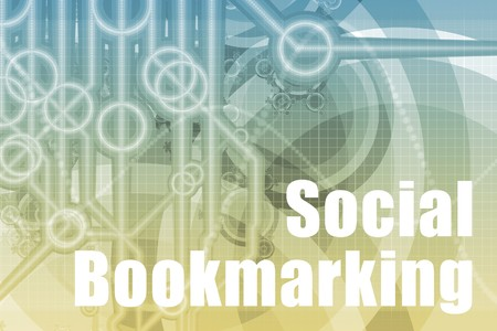 bookmarking: Social Bookmarking Abstract Background in Blue Color Stock Photo