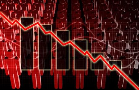 unemployment rate: Rising Unemployment Rates Economic as a Graph