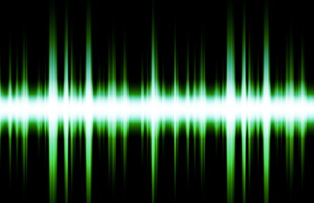 pulsing: Soundwave Digital Graph as Clip Art Abstract Stock Photo