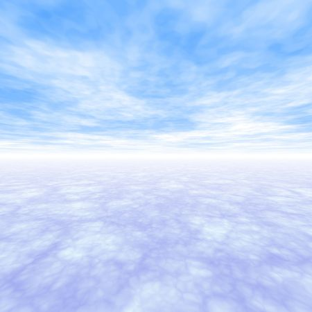 Freedom Landscape With Light Blue Clouds Stock Photo - 4620223