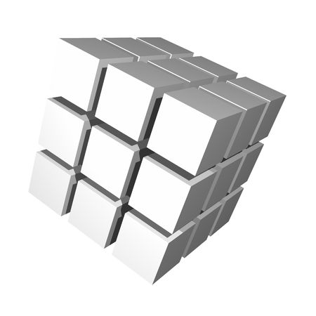 3D Cube Isolated Simple and Clean on White Stock Photo - 4620271