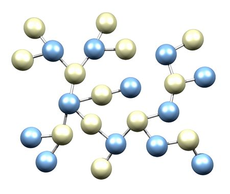 Molecules in Blue and White Design Element photo