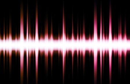 vibrations: Soundwave Digital Graph as Clip Art Abstract Stock Photo