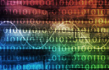 void: Futuristic Technology Data Flow as Art Background Stock Photo