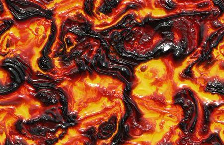 uitbarsting: Gesmolten Lava achtergrond in zwart en oranje Stockfoto