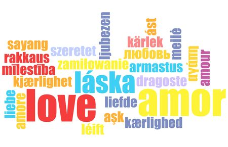 Love in Many Languages Text Abstract Background Stock Photo - 4710134