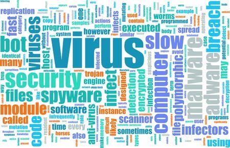 Internet Virus Through PC Browser Surfing Art Stock Photo - 4710152