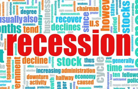 Recession Economic Concept Text Cloud Background Stock Photo - 4710163