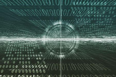 Futuristic Technology Data Flow Color Digital Abstract Stock Photo - 4724374