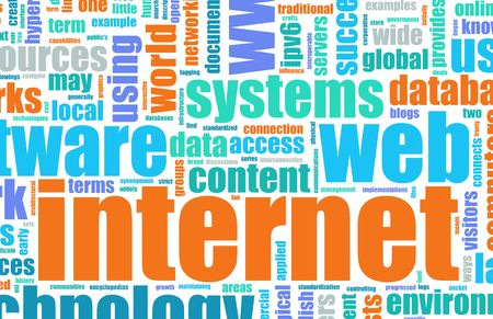 super highway: Internet Text Cloud as a Abstract Background Stock Photo