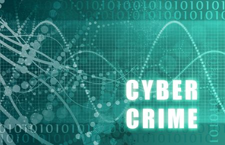 Cyber Crime Abstract Technology as a Background photo