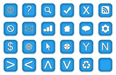 Web Icons Set in Aqua Blue Symbols photo