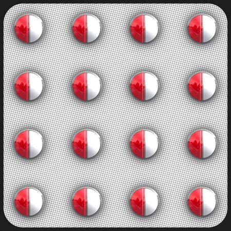 generic drugs: Farmaci che richiedono prescrizione medica generica in imballaggi Clip Art