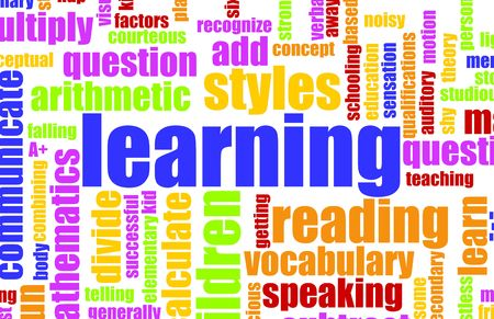 Learning is Fun Vocabulary Elementary School Art Stock Photo - 4789537