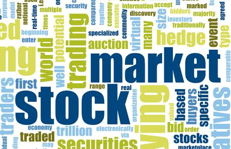 hedges: Stock Market Terms As a Abstract Background Stock Photo