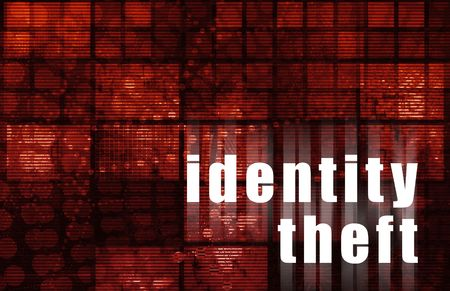 id theft: ID Theft Abstract in a Futuristic Red Media Abstract