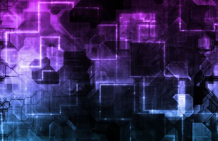 Technology Abstract World Background as Clip Art Stock Photo