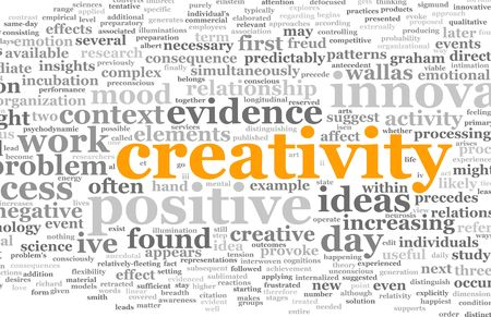 word cloud: Creativity as a Text Cloud Abstract Background Art