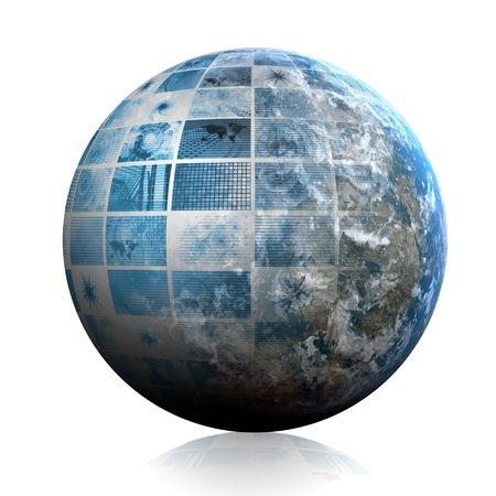 Blue Futuristic Technology Data as Art Abstract Stock Photo - 4817576