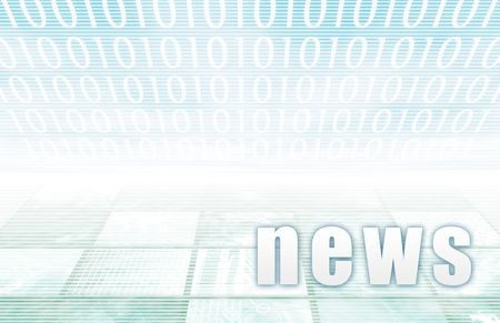 News on a Clear Blue Tech Background Stock Photo - 4817546