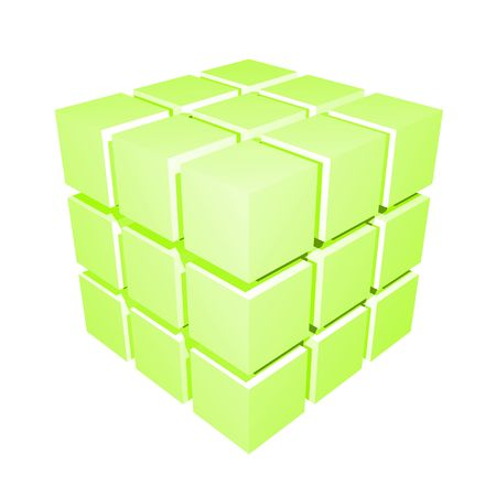 3D Cube Isolated Simple and Clean on White Stock Photo - 4857050