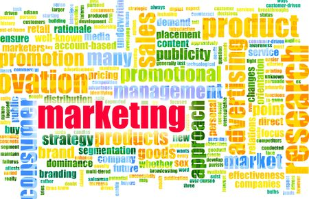 media distribution: Efficient Marketing Focus as a Word Cloud