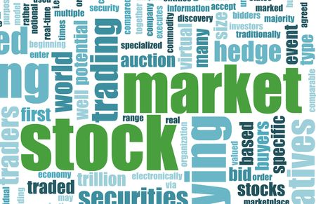 terminology: Stock Market Terminology Background as a Art Stock Photo