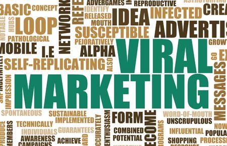 Viral Marketing Creative Concept as Abstract Art Stock Photo - 4886296