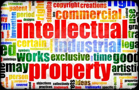 intellect: Intellectual Property Concept Word Cloud as Art Stock Photo