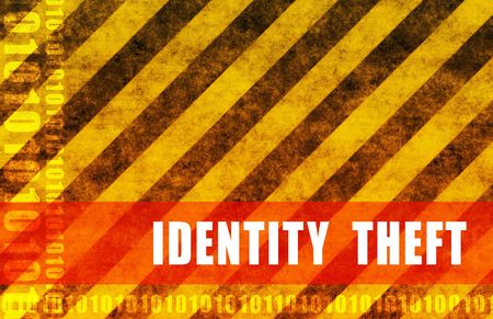 ID Theft Danger of Stolen Identity Background Stock Photo - 4896294