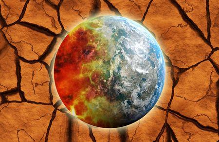 madre tierra: Morir la Madre Tierra como un concepto de fondo Foto de archivo
