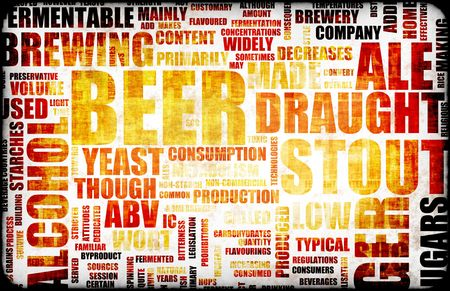 Beer Related Text Design Element as Background photo