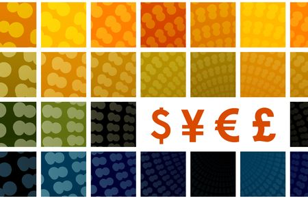 World Major Currency Symbols Sign Art Background Stock Photo - 4896297